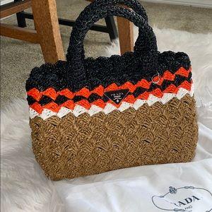 Prada Milano straw purse w dust bag